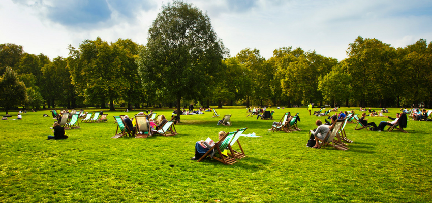 Image of a park in London
