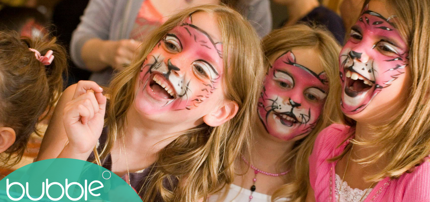 Image showing children with face paint