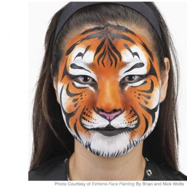Image of Tiger face painting