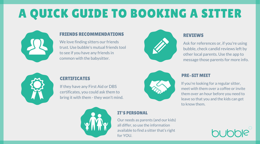 Image of a guide to booking a babysitter