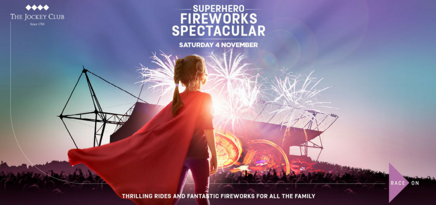 Image of Kempton Park firework advert