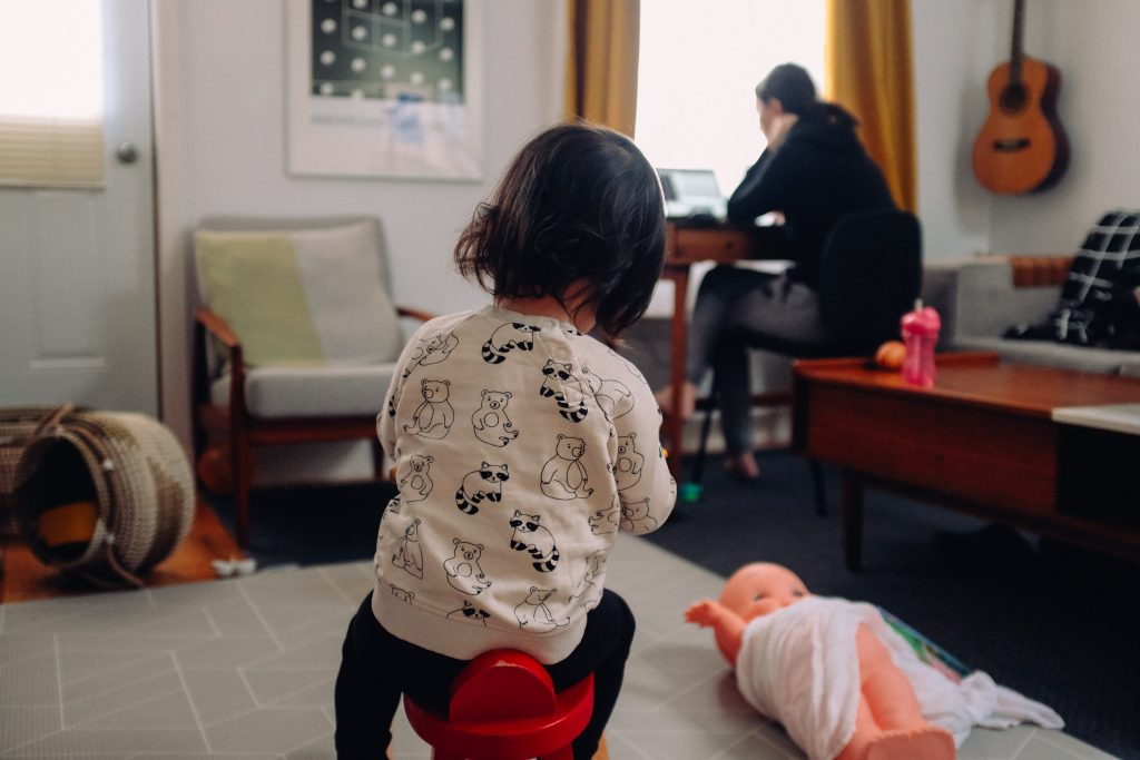Working from home with children can be tough
