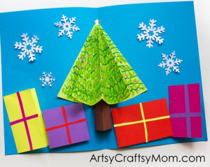 Make a 3D pop-up card for Christmas