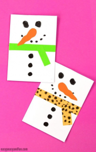 Simple snowmen cards are a Christmas classic