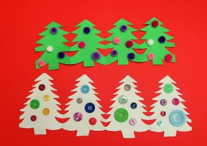 Switch up your paper chain game with these Christmas trees